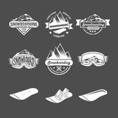 Snowboarding logos and labels templates
