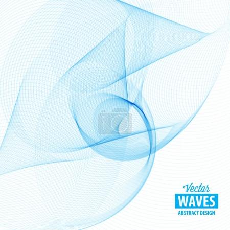 Illustration for Abstract smooth color wave vector. Smoke wave design. Curve flow motion illustration. - Royalty Free Image