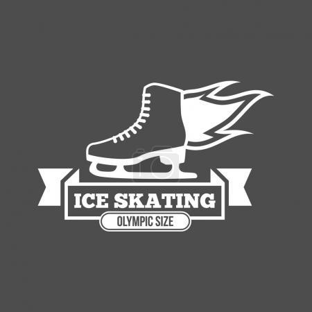 Ice Skate label logo