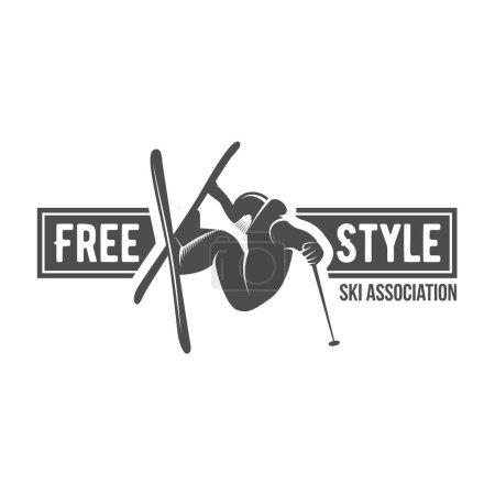 Vintage ski freestyle logo