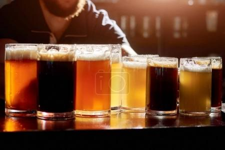 Assorted beers for tasting