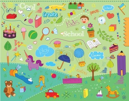 beautiful children school pattern for kids