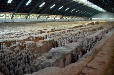 XIAN  MAY 11: exhibition of the famous Chinese Terracotta Army (Terracotta Warriors)