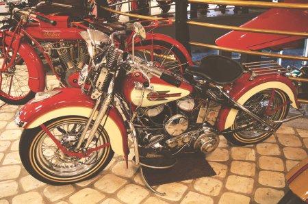 MOSCOW, RUSSIA - JANUARY 6, 2018: Vadim Zadorozhny Technology Museum, motorcycle Harley-Davidson