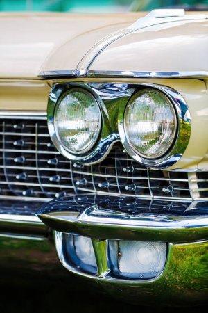 Headlight of vintage car