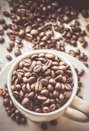 Photo for Coffee bean. a Cup of coffee. selective focus. - Royalty Free Image