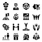 Business success icon set Vector illustration Graphic design