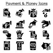 Payment & money icon set
