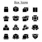 Box icon set vector illustration graphic design