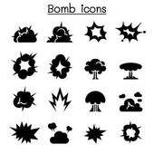 Bomb & Explosion icon set vector illustration graphic design