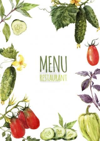 Watercolor menu template