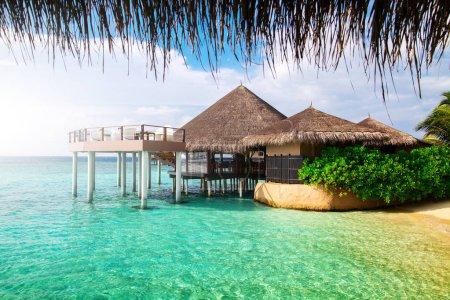 Water bungalows resort at islands
