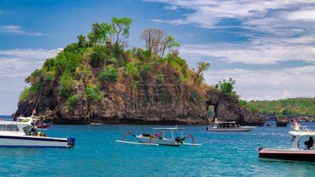 Crystal Bay beach at Nusa