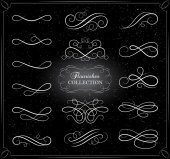 Collection of swirling flourishes decorative elements
