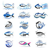 Collection of fishes symbol