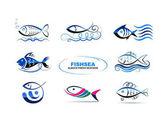 Collection of fish symbols