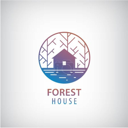 house in the woods logo.