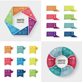 Vector infographics set Business concept with options
