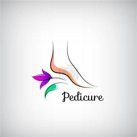 Woman foot pedicure logo