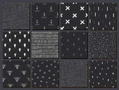 Vector set of hand drawn seamless abstract patterns Use as background wallpaper decor paper wrapping Black and white