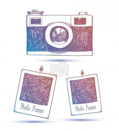 hipster photo camera