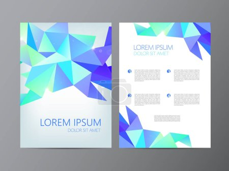 modern faceted design of Flyers
