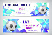 Two creative football banners with soccer ball