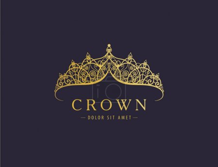golden crown on dark