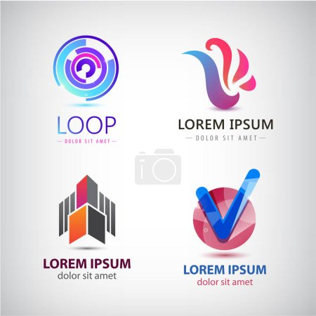 set of different logos