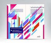 Vector illustration of abstract colorful geometric background