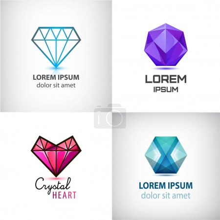 set of jewelery logos