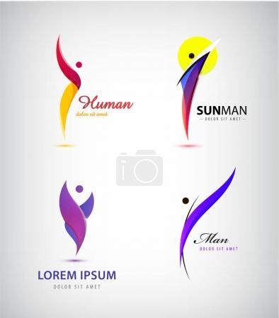 set of creative human, man logos