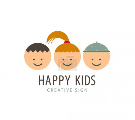 kids faces, funny cartoon