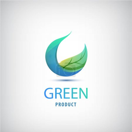 green leaf circle logo