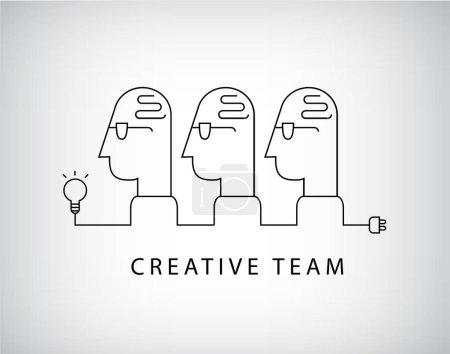 creative team, working group logo