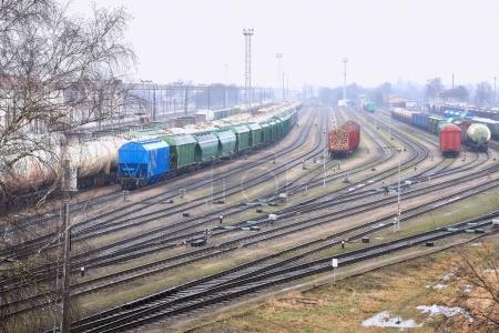 Commodity Railway Station, photographed from a hig...