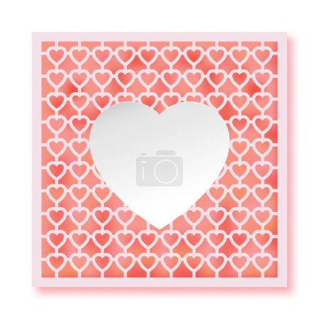 Vector template for laser cutting. Can be used as invitation, en