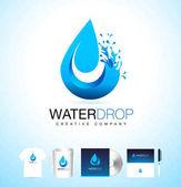 Water Drop Logo Vector Water Drop Design with Splash