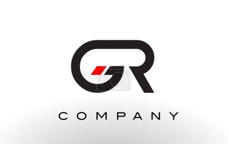 Logo GR. Vector de diseño de letras .