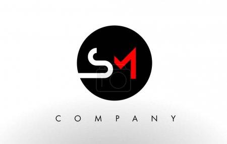 SM Logo.  Letter Design Vector.