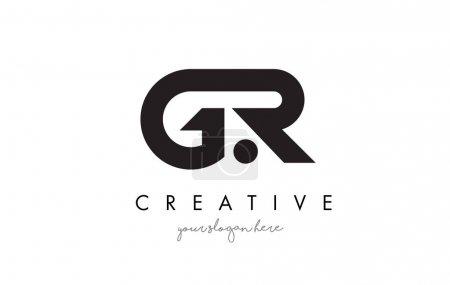 GR Carta Diseño de Logo con Tipografía Creativa Moderna y Moderna .
