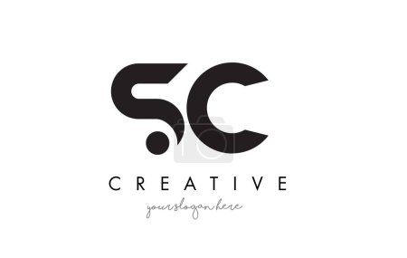SC Letter Logo Design with Creative Modern Trendy Typography.
