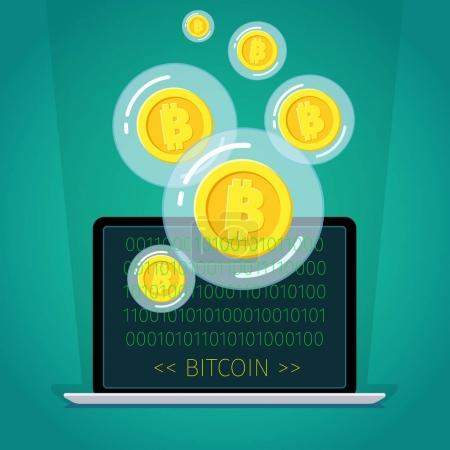 Concept of digital currency.