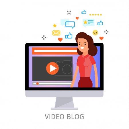 video blogging Concept