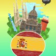 Concept of travel to Spain or studying Spanish. Sp...