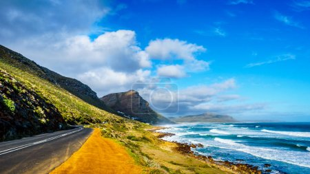 The Atlantic coast along the road to Chapman's Peak at the Slangkop Lighthouse in the Cape Peninsula