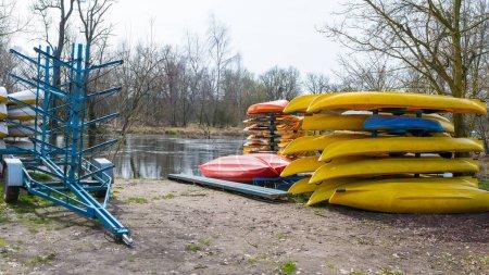 Rental kayaks and canoes at Welna River Wielkopolska