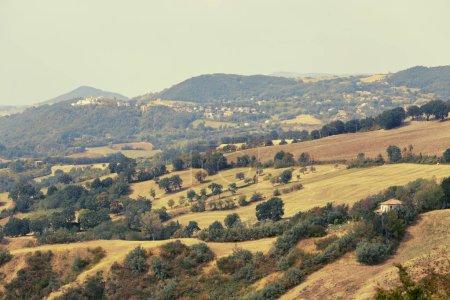 San Marino, San Marino - 10 August 2017: Panoramic view of the local surroundings.