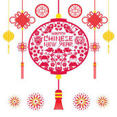 Papercut Lantern Chinese New Year