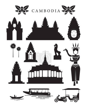 Cambodia Landmarks and Culture Object Set